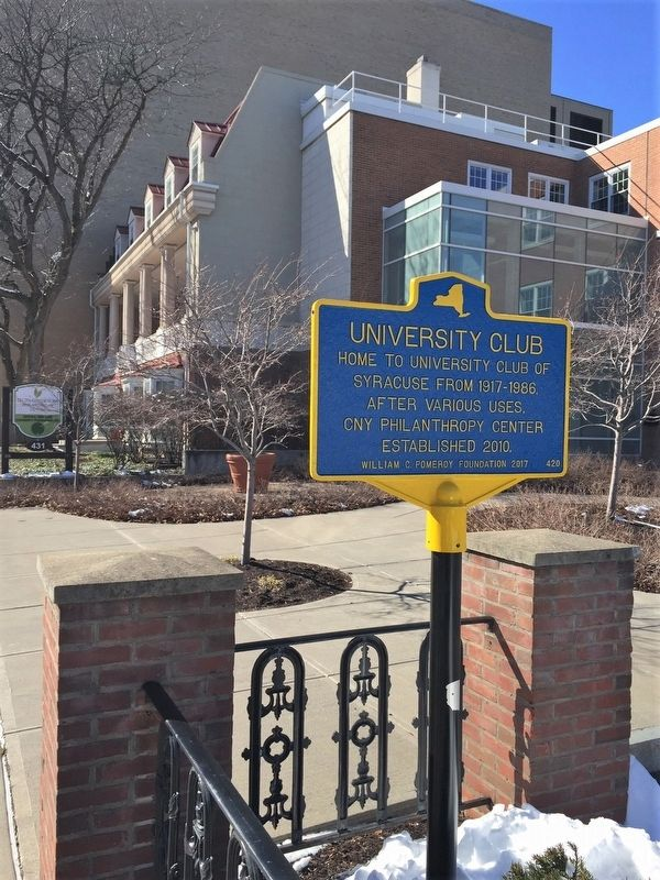 University Club Marker image. Click for full size.