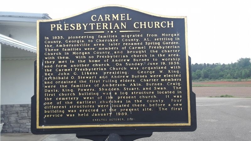 Carmel Presbyterian Church Marker image. Click for full size.