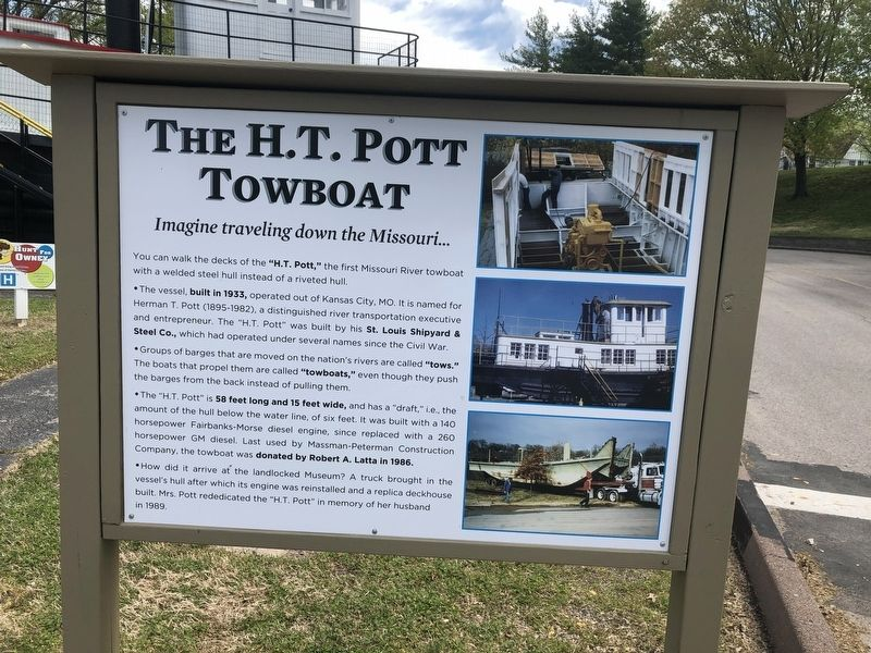 The H.T. Pott Towboat Marker image. Click for full size.