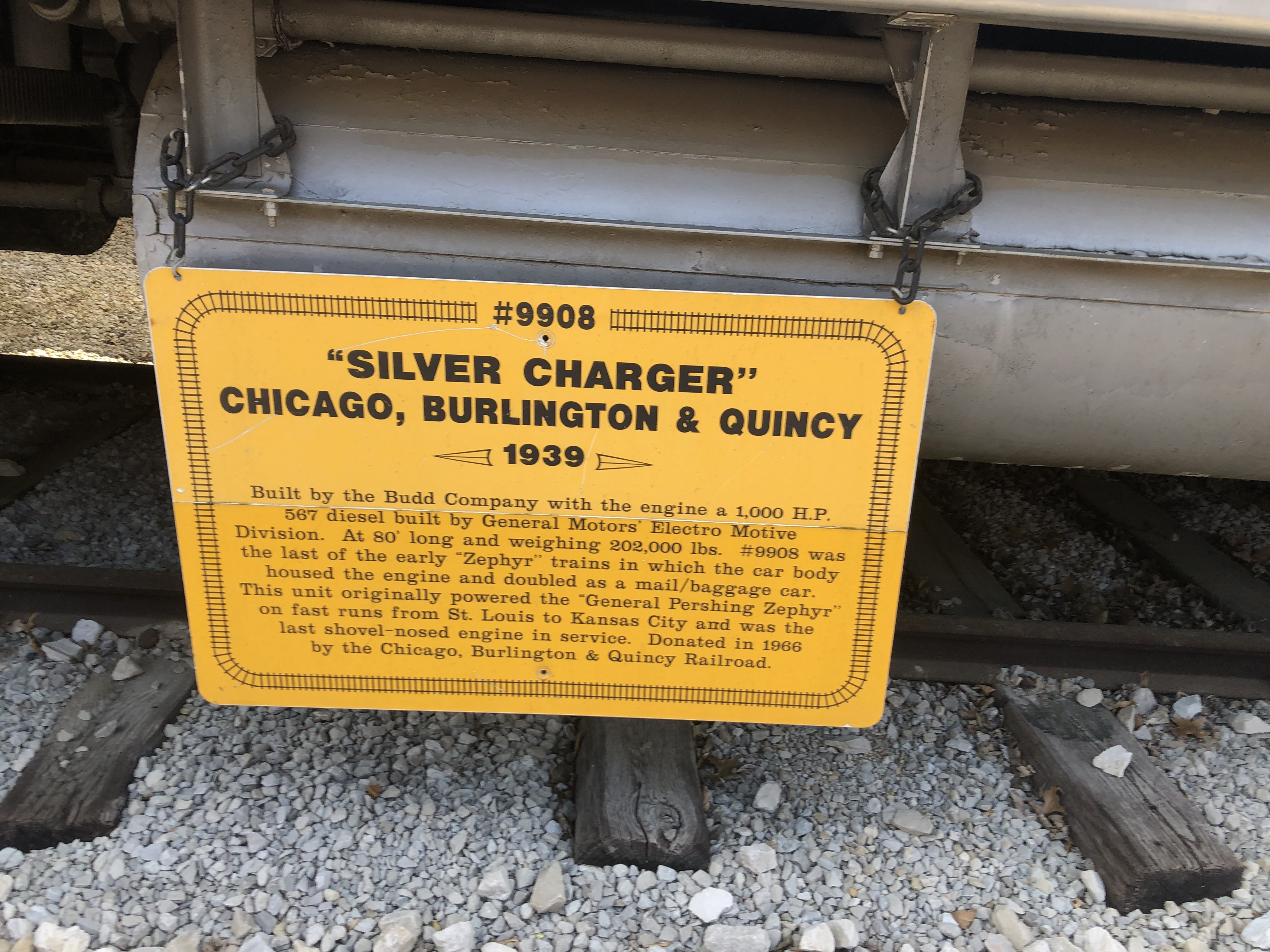 "#9908 ""Silver Charger"" Marker"
