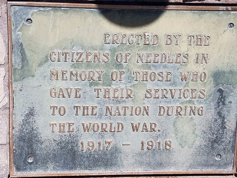 Citizens of Needles Marker image. Click for full size.