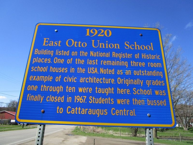 East Otto Union School Marker image. Click for full size.