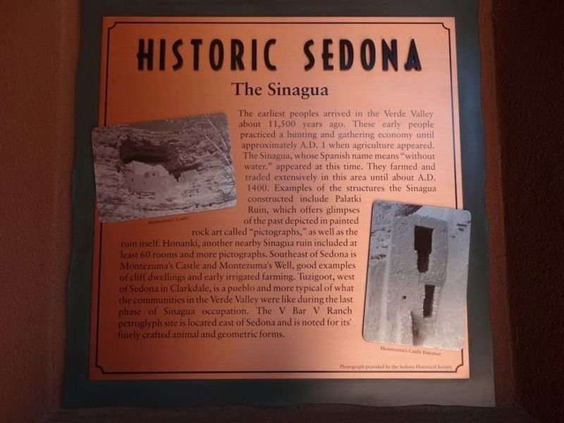 Historic Sedona Marker image. Click for full size.