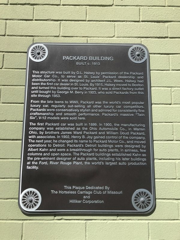 Packard Building Marker image. Click for full size.