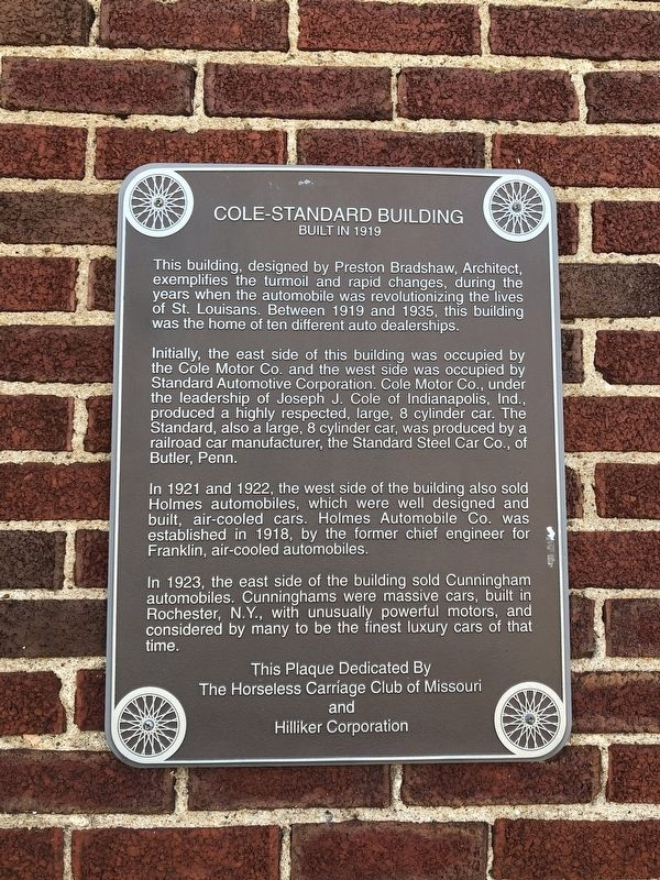 Cole-Standard Building Marker image. Click for full size.
