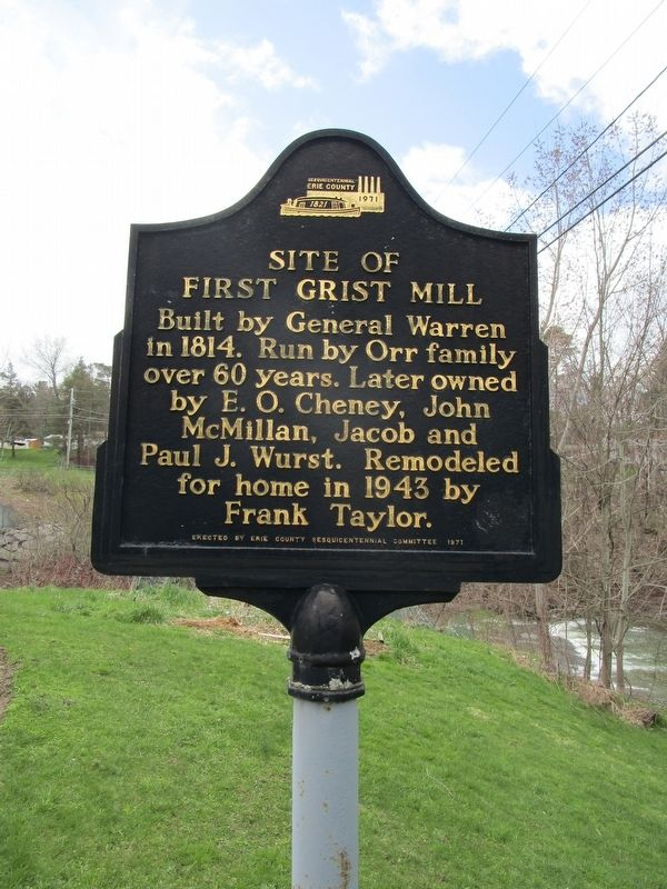 Site of First Grist Mill Marker image. Click for full size.