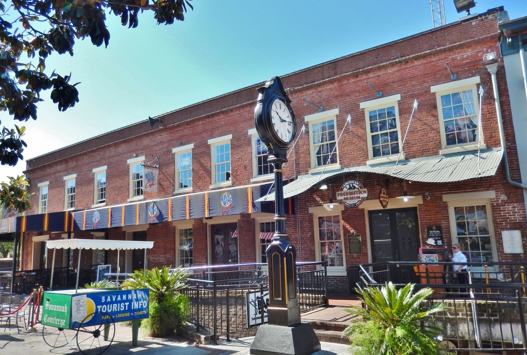 American Prohibition Museum (<i>wide view; marker mounted just left of entrance</i>) image. Click for full size.