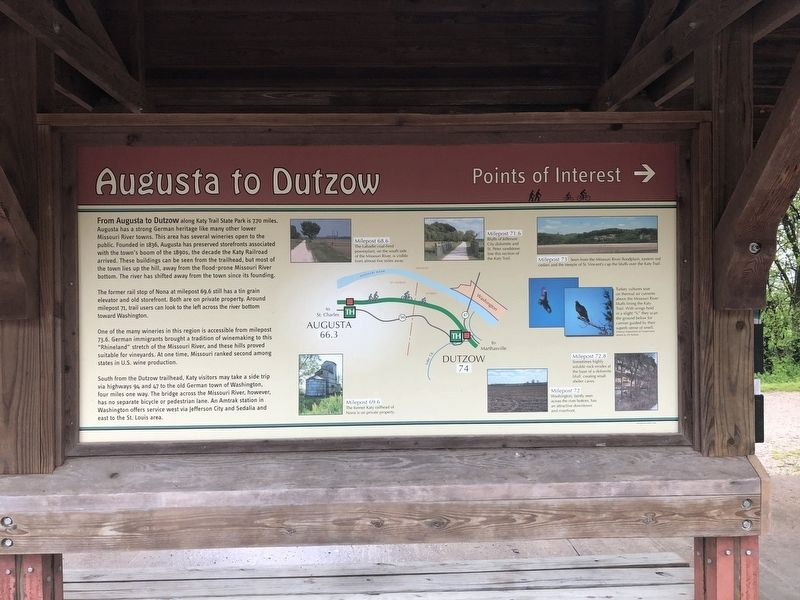 Augusta to Dutzow Marker image. Click for full size.