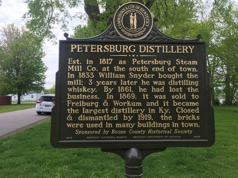 Petersburg Distillery Marker image. Click for full size.