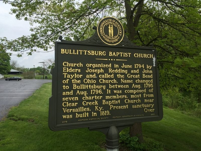 Bullittsburg Baptist Church Marker image, Touch for more information