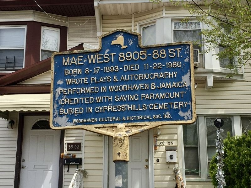 Mae West Marker image. Click for full size.