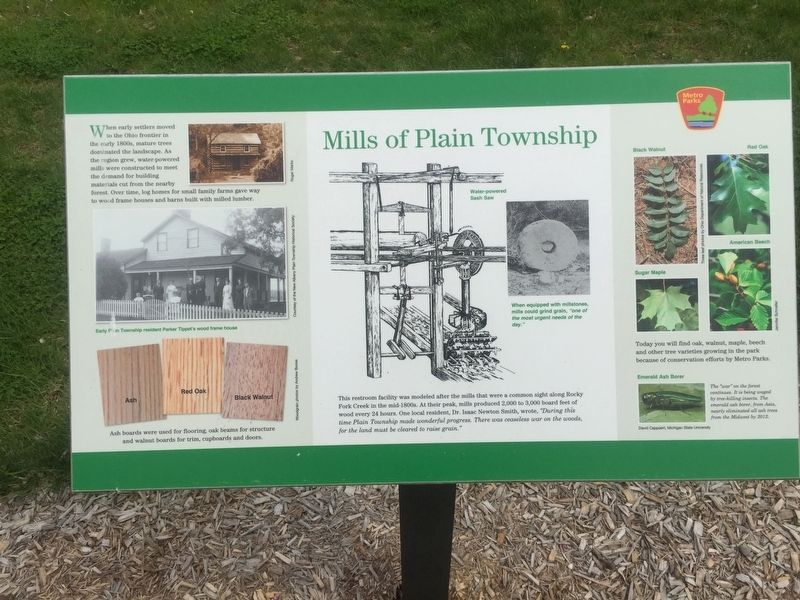 Mills of Plain Township Marker image. Click for full size.