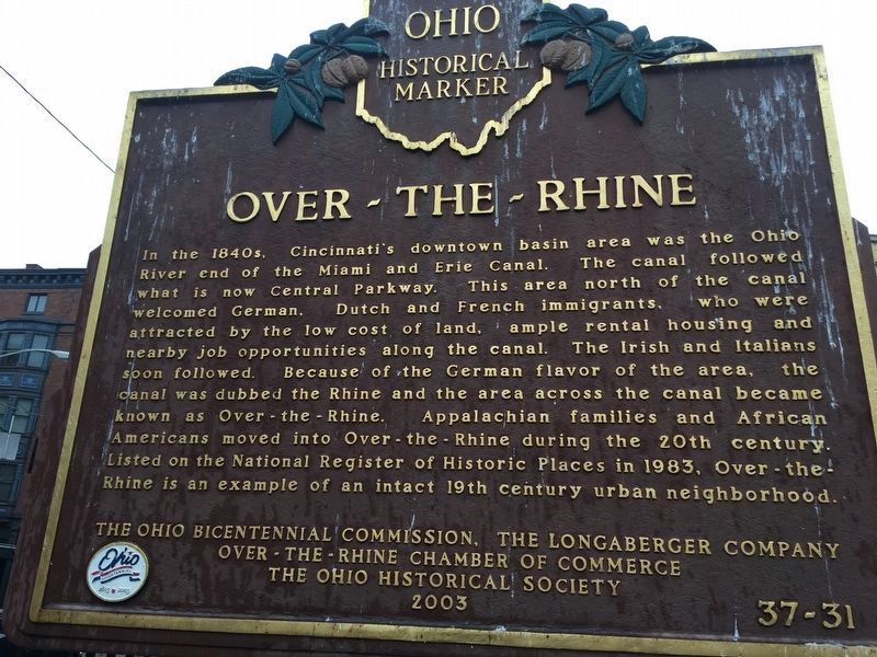 Over-The-Rhine Marker image. Click for full size.