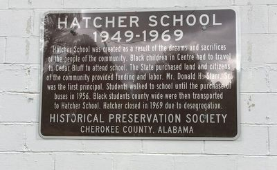 Hatcher School Marker image. Click for full size.