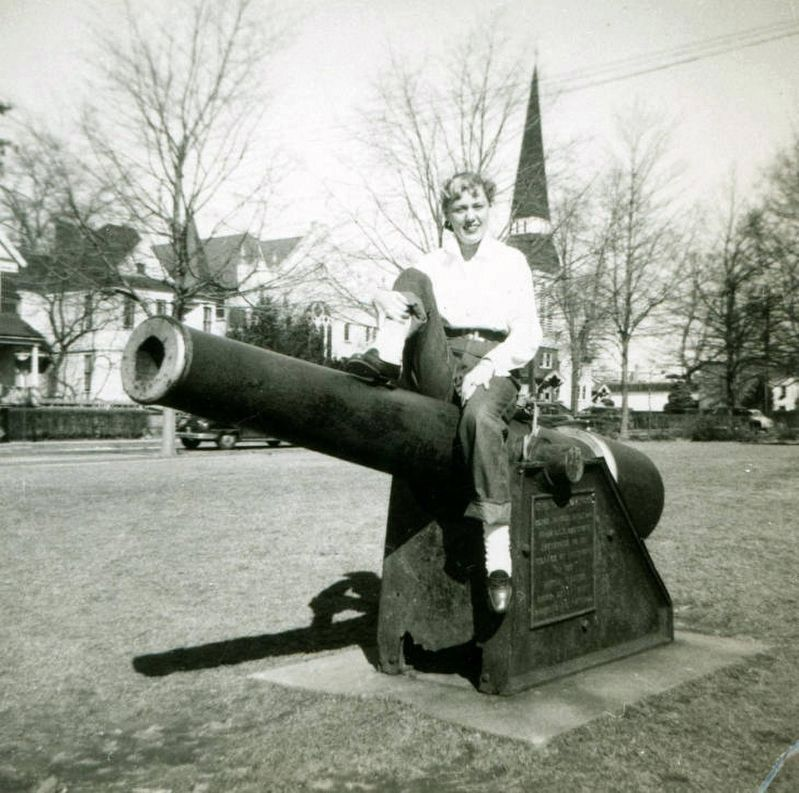 <i>Woman sitting on cannon</i> - previous location image. Click for full size.