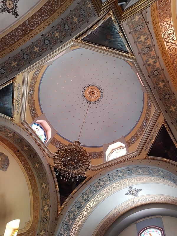 The interior dome of the Saint Francis of Assisi Parish image. Click for full size.
