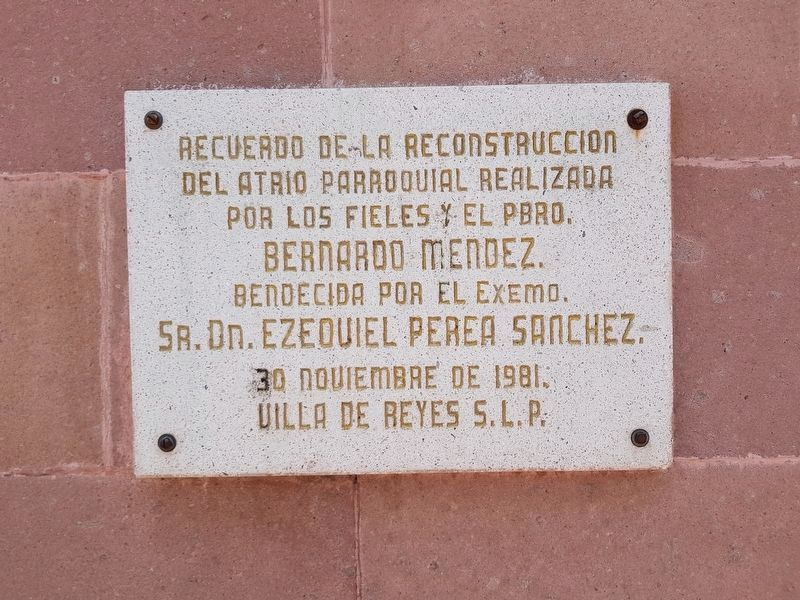 An additional marker on the 1981 remodeling of the atrium of Saint Francis of Assisi Parish image. Click for full size.