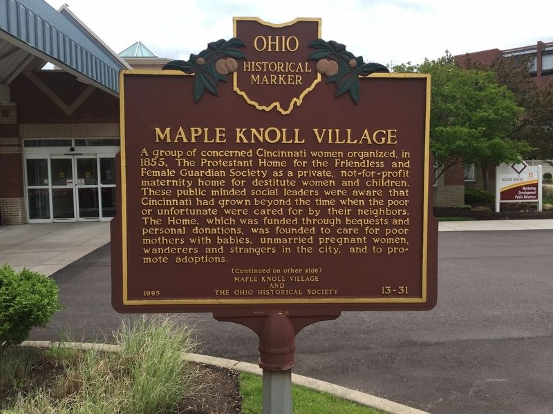 Maple Knoll Village Marker image. Click for full size.