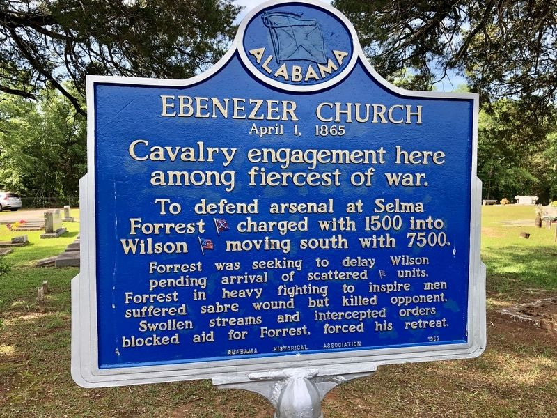 Another nearby marker about the Battle of Ebenezer Church. image. Click for full size.