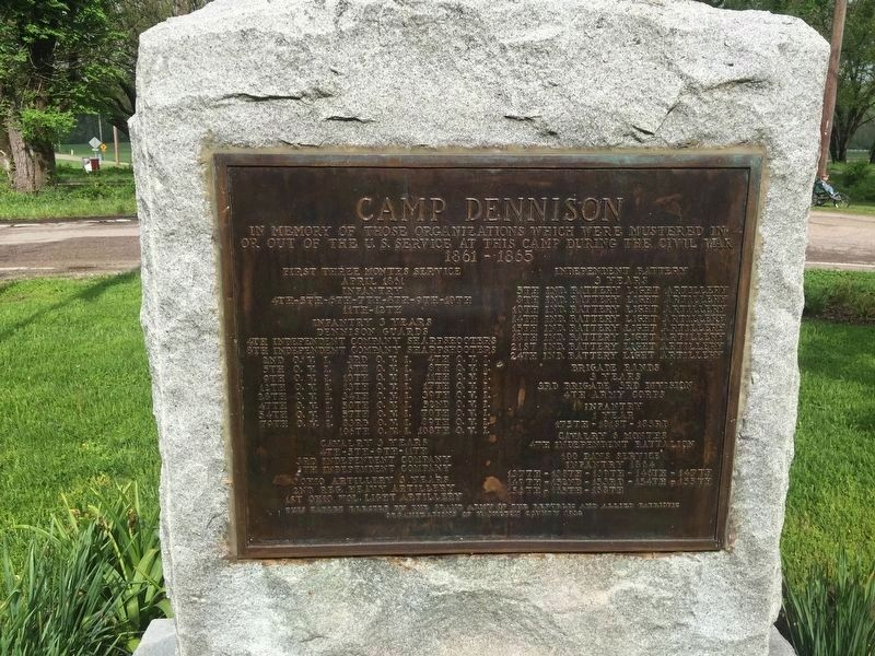 Camp Dennison Marker image. Click for full size.