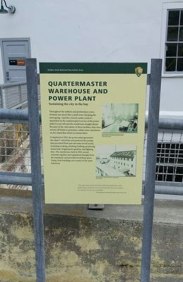 Quartermaster Warehouse and Power Plant Marker image. Click for full size.