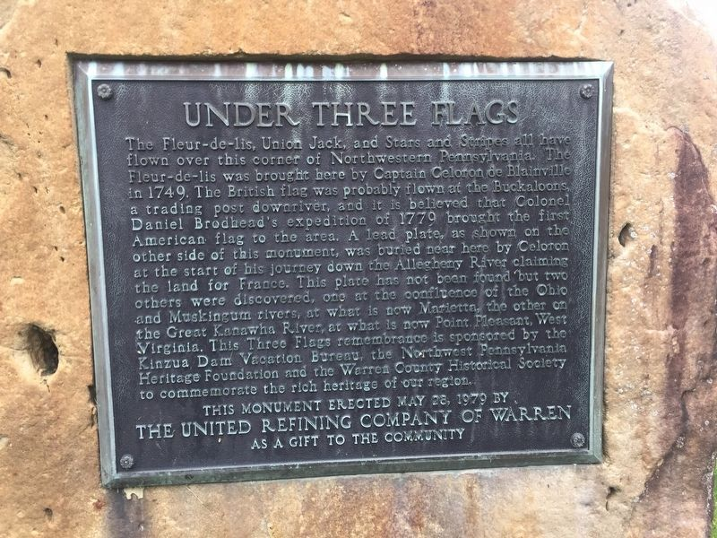 Under Three Flags Marker image. Click for full size.