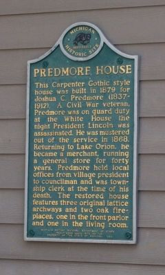 Predmore House Marker image. Click for full size.