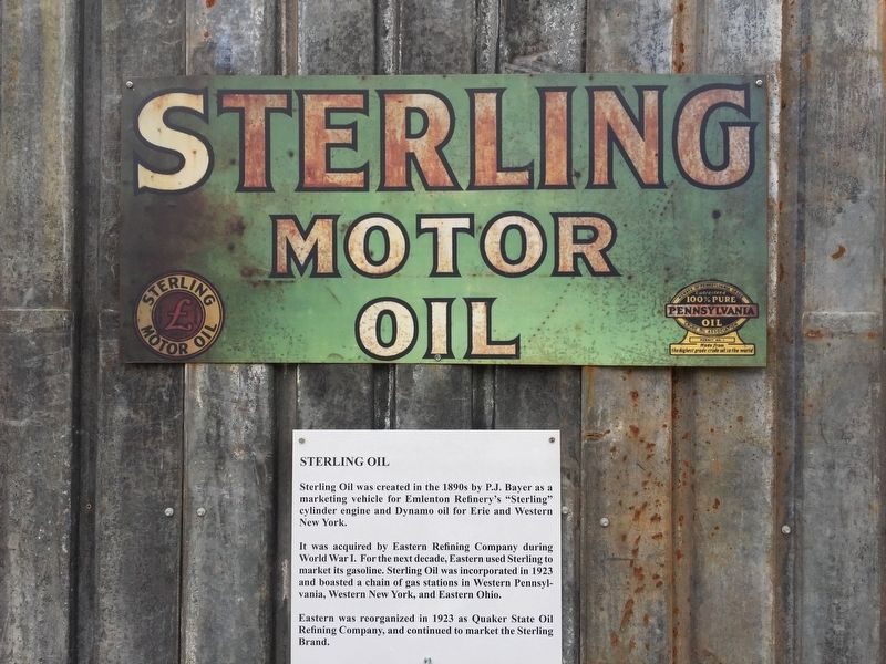 Sterling Oil Marker image. Click for full size.