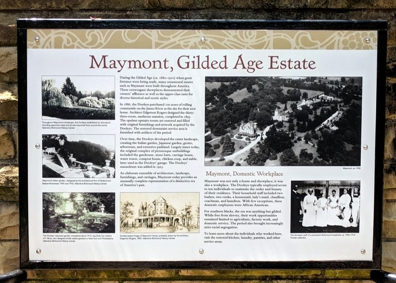 Maymont, Gilded Age Estate Marker image. Click for full size.