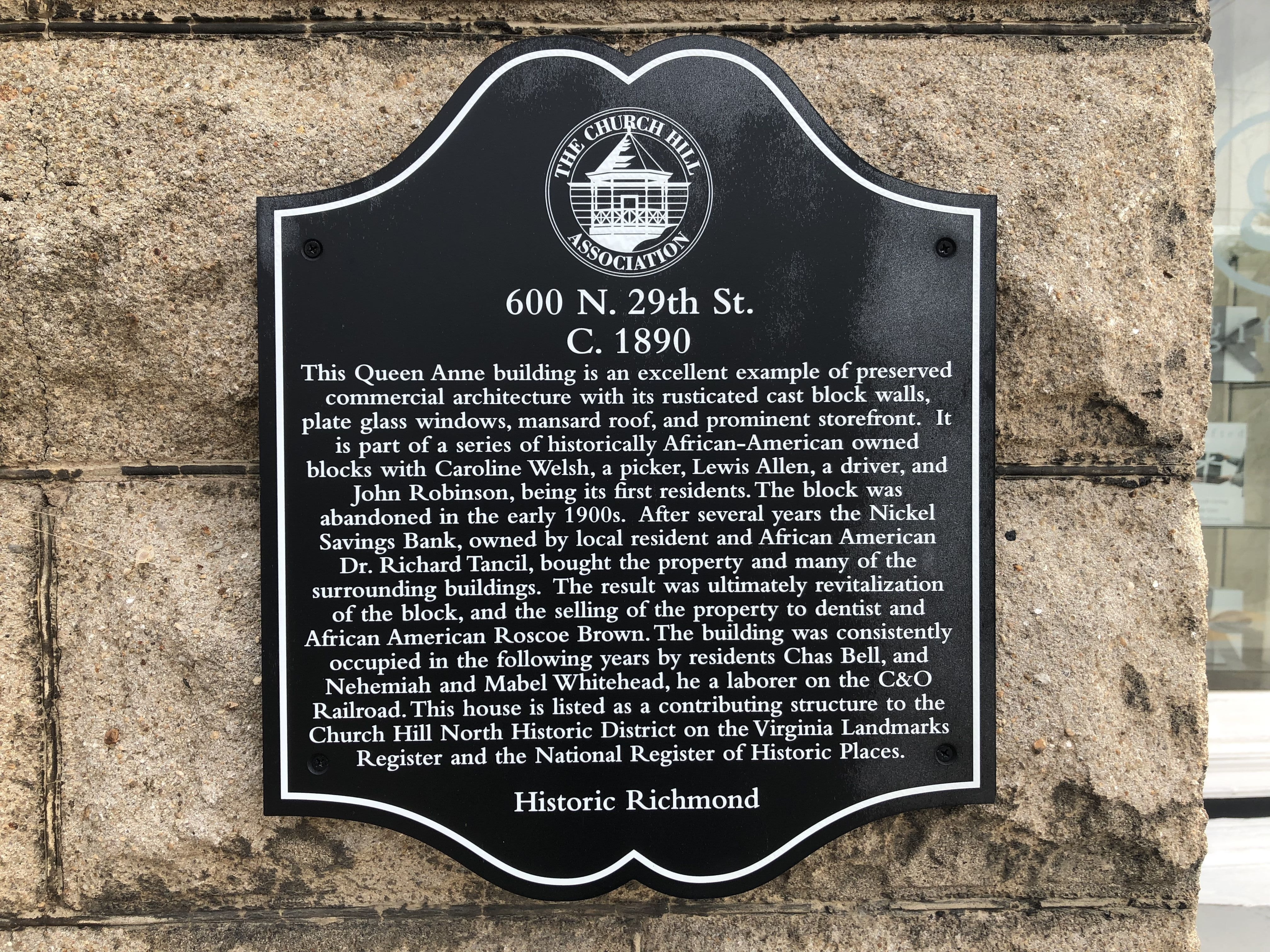 600 N. 29th St. Marker