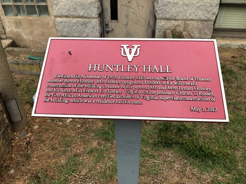 Huntley Hall Marker image. Click for full size.