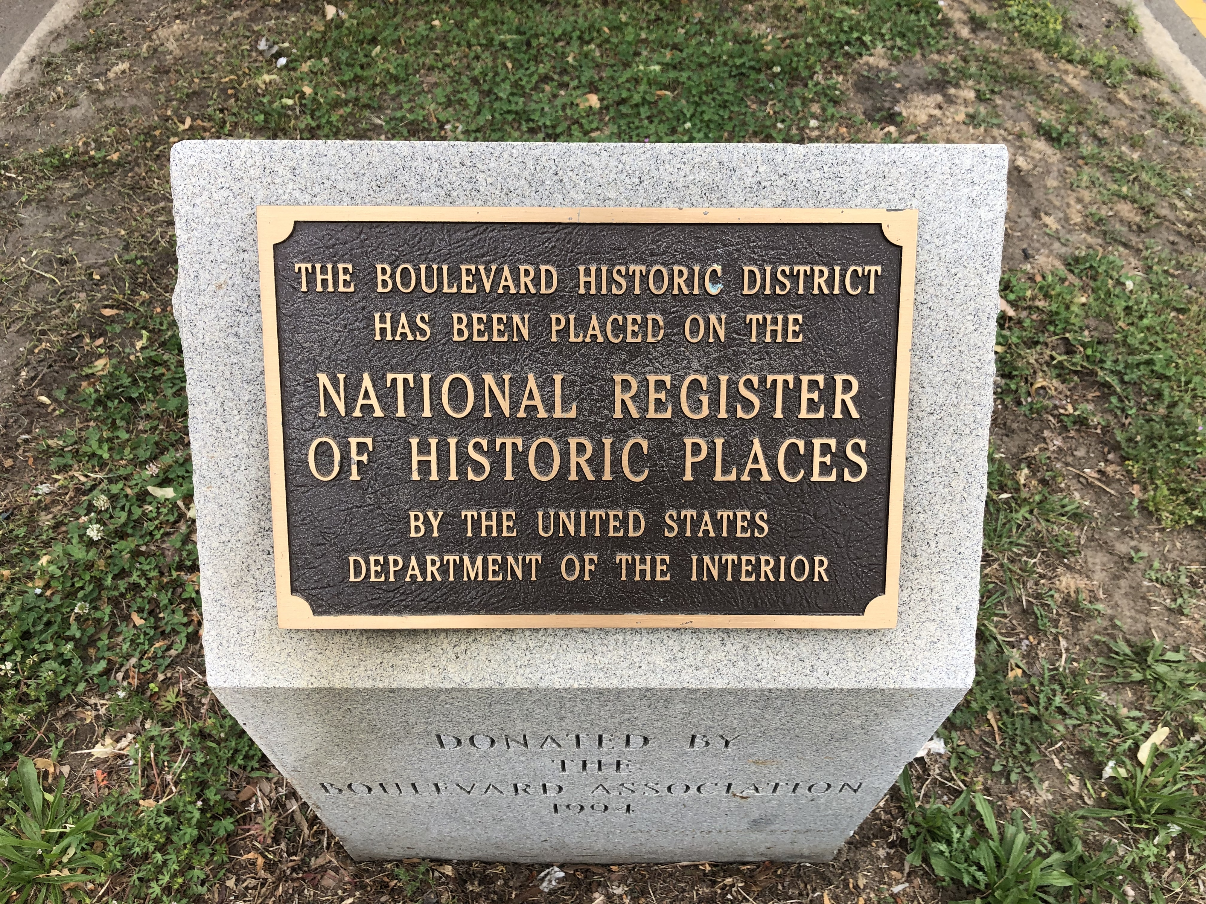 The Boulevard Historic District Marker