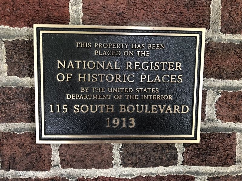 115 South Boulevard Marker image. Click for full size.