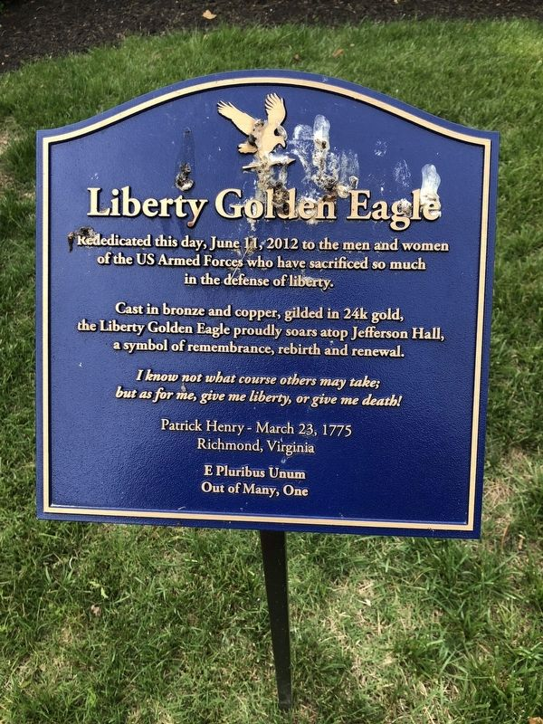 Liberty Golden Eagle Marker image. Click for full size.