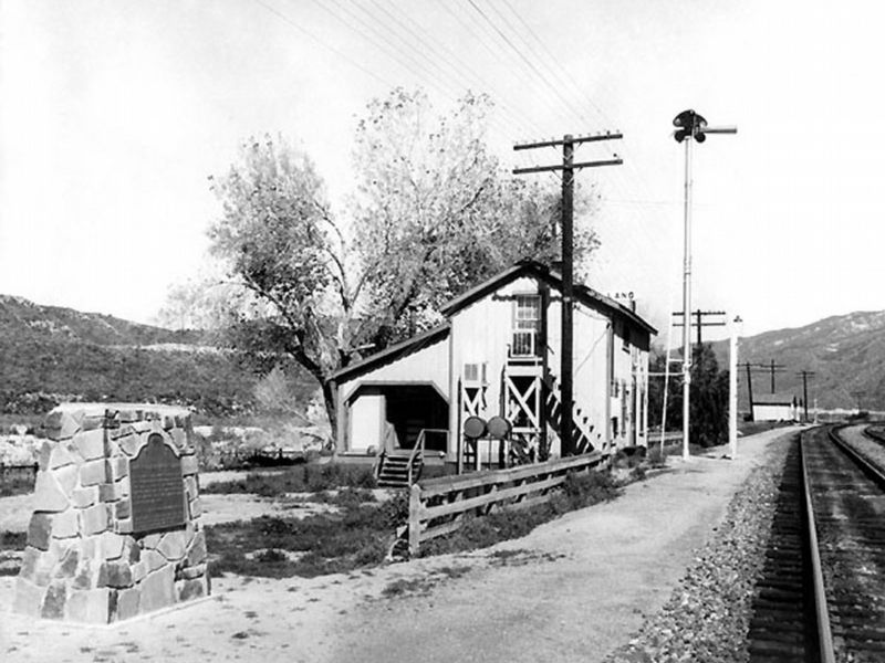 Lang Station and Original Marker image. Click for full size.