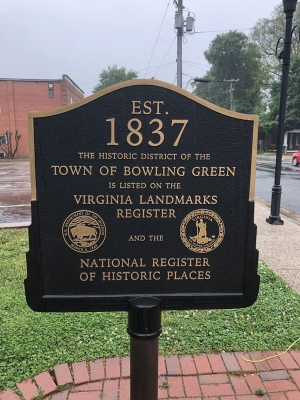Town of Bowling Green Marker image. Click for full size.