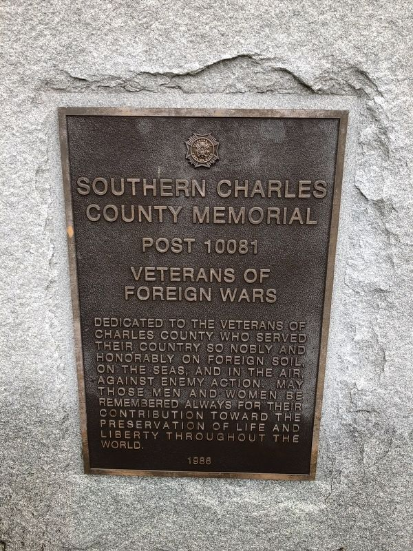 Southern Charles County Memorial image. Click for full size.