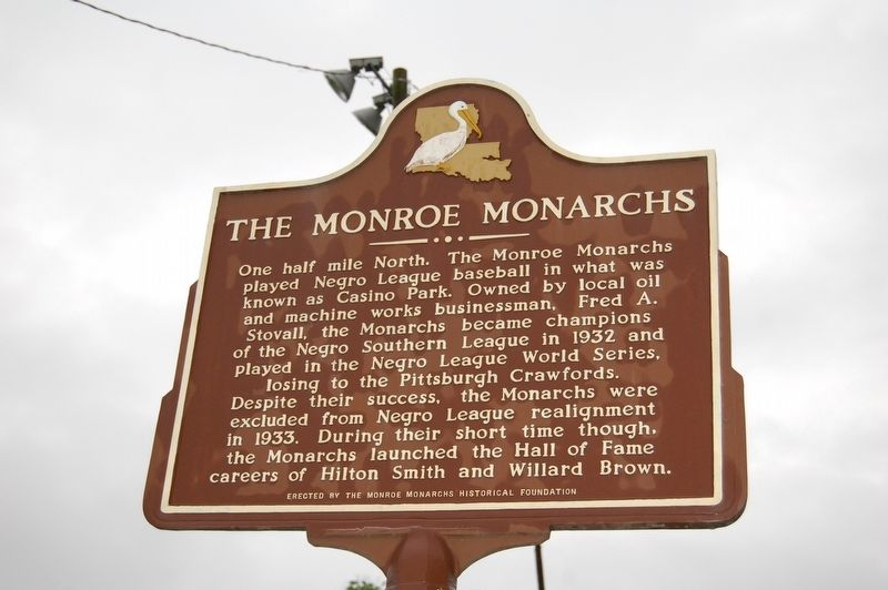 The Monroe Monarchs Marker image. Click for full size.