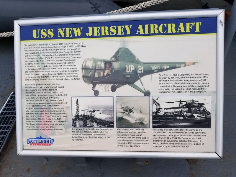 USS New Jersey Aircraft Marker image. Click for full size.