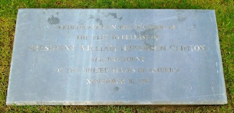 First U.S.A.E.F. Landed in This City 26 Jan 1942 Monument Rededication Marker image. Click for full size.