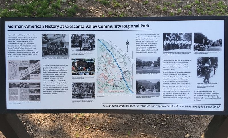 Crescenta Valley Park Marker image. Click for full size.