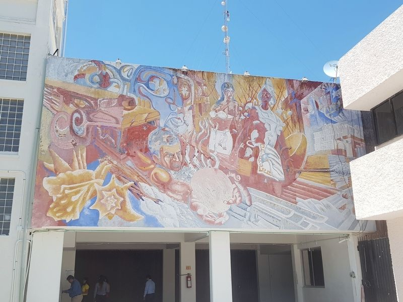 The nearby mural known as 'Mestizaje' by Nereo Galileo, (1979). image. Click for full size.