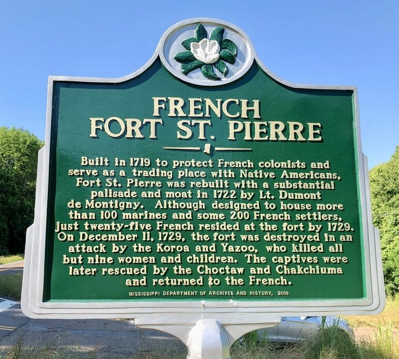 French Fort St. Pierre Marker image. Click for full size.