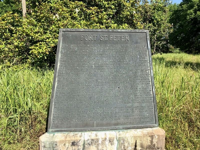Another nearby marker about Fort St. Pierre (Peter). image. Click for full size.