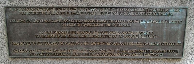Korean War Memorial Dedication image. Click for full size.