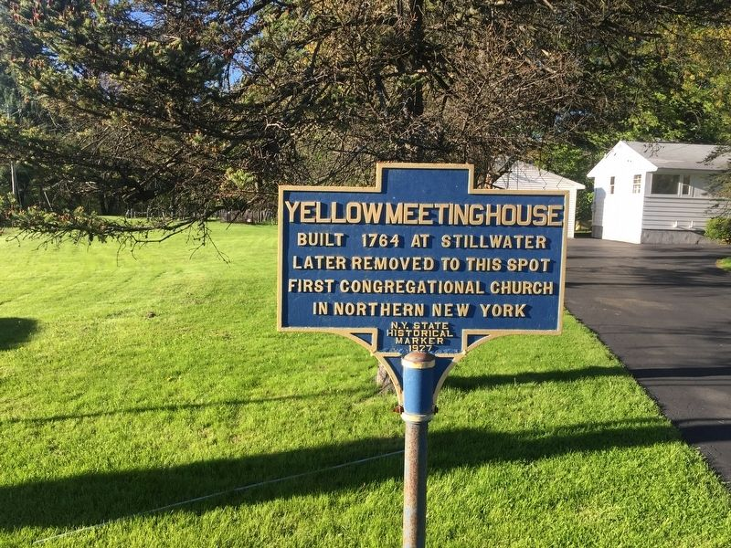 Yellow Meetinghouse Marker image. Click for full size.