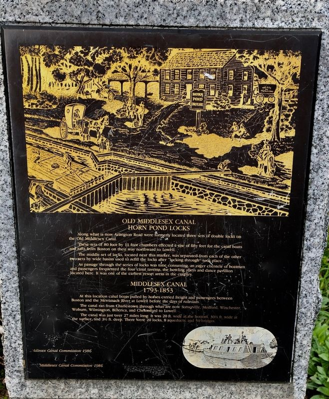 Old Middlesex Canal Marker image. Click for full size.