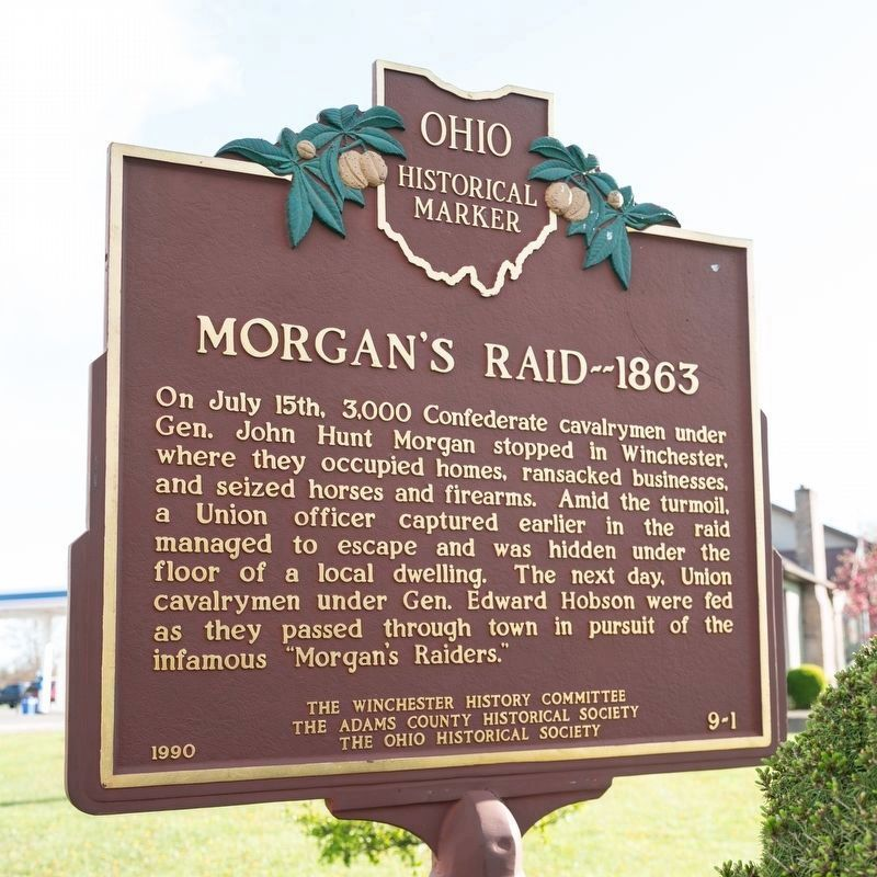 Morgan's Raid face of marker image. Click for full size.