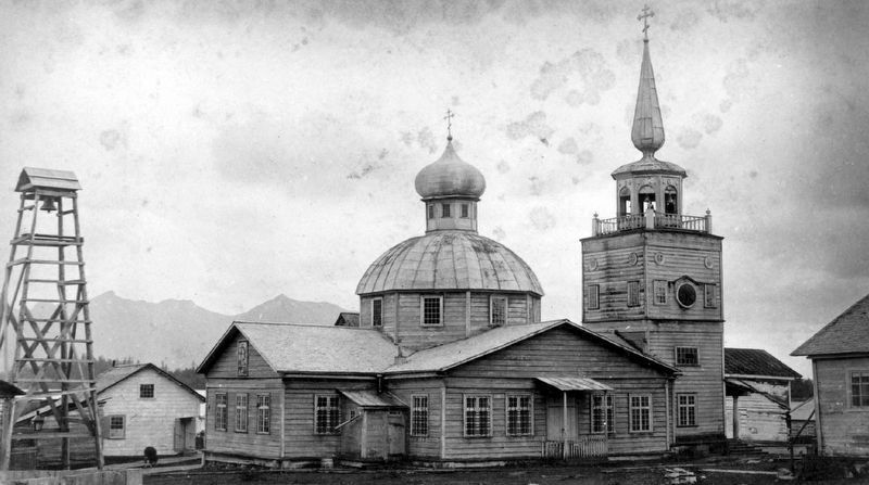 Cathedral of St. Michael the Archangel c1886 image. Click for full size.