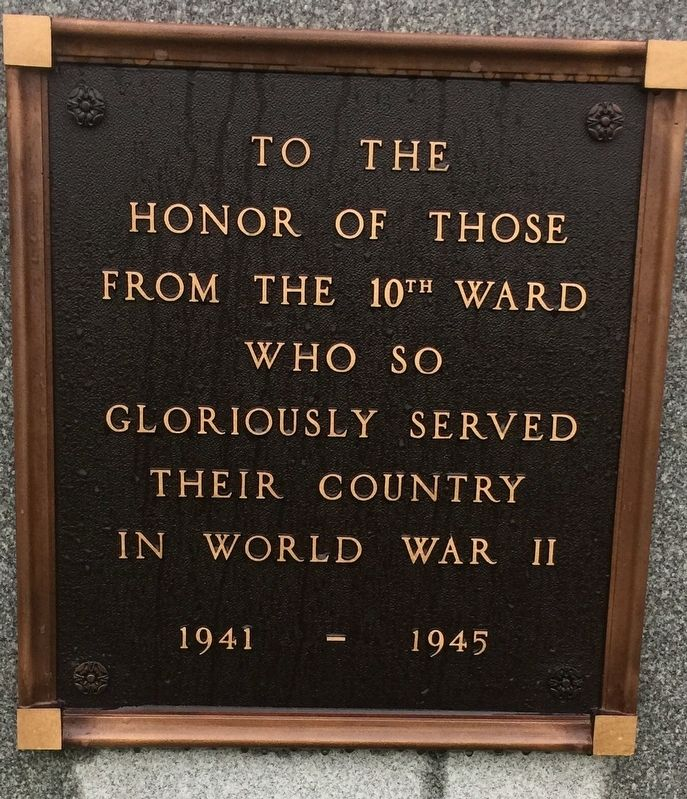 10th Ward War Memorial image. Click for full size.